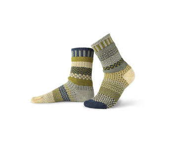 Solmate Socks Adult Crew Sagebrush Small