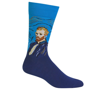 HOTSOX FAMOUS ARTIST MEN PAIR VAN GOGH SELF PORTRAIT