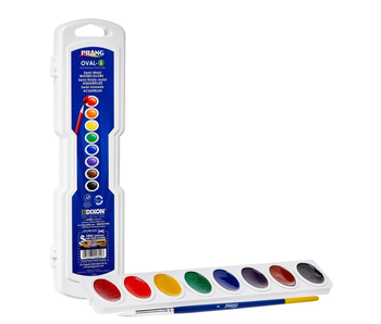 PRANG OVAL 8 WATERCOLOR Set with brush
