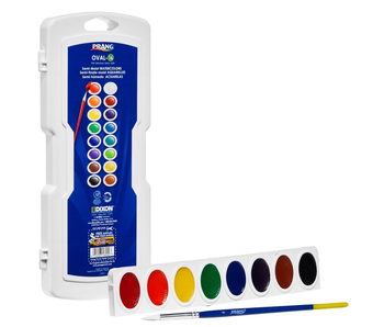PRANG OVAL16 WATERCOLOUR Set with brush