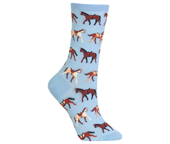 Hotsox Originals SADDLE HORSES LIGHT BLUE