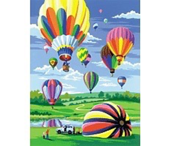 Small Junior Paint By Number-HOT AIR BALLOONS