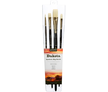 PRINCETON DAKOTA SYNTHETIC HOG BRISTLE BRUSHES 4 PACK