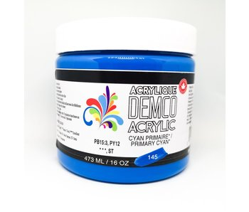 Demco 16OZ 473ML Acrylic  Primary Cyan