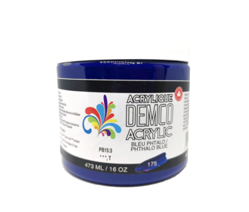 Demco 16OZ 473ML Acrylic  Phthalo Blue