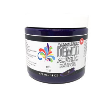 Demco 16OZ 473ML Acrylic  Dioxzine Purple