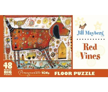 POMEGRANATE KIDS 2X3 FEET 48 REALLY BIG PIECES FLOOR PUZZLE: RED VINES