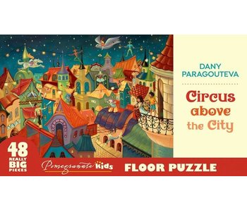 POMEGRANATE KIDS 2X3 FEET 48 REALLY BIG PIECES FLOOR PUZZLE: CIRCUS ABOVE THE CITY