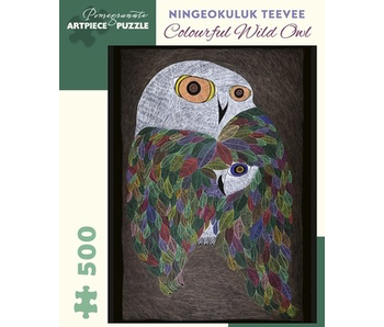 POMEGRANATE ARTPIECE PUZZLE 500 PIECE: TEEVEE COLOURFUL WILD OWL