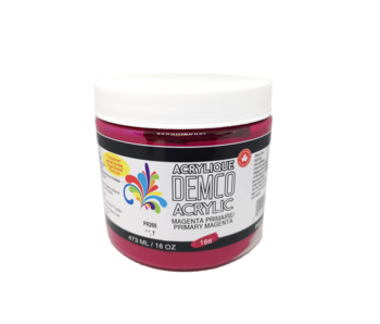 Demco 16OZ 473ML Acrylic  Primary Magenta