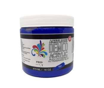Demco 16OZ 473ML Acrylic Ultramarine Blue