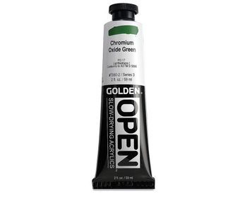 Golden Open 2Oz Chromium Oxide Green Series 3 Acrylic