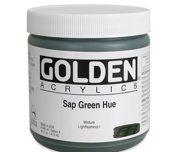 Golden 16Oz Sap Green Hue Series 4 Heavy Body Artist Acrylic Paint HB