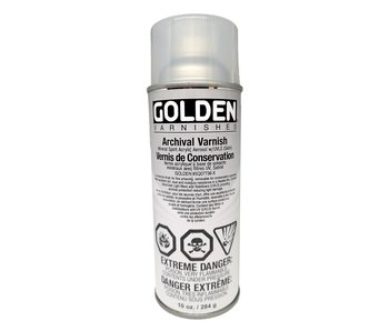 Golden Aerosol 10Oz Archival Varnish Satin Arcylic Spray
