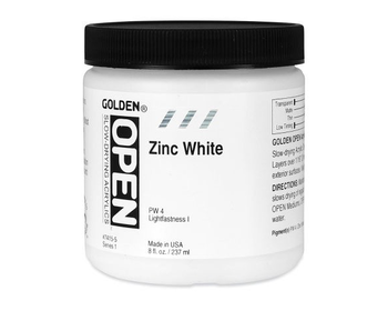 Golden Open 8Oz Zinc White Series 1 Acrylic