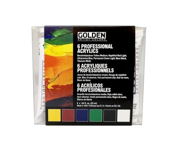 Golden 3/4oz Heavy Body Introductory Set 6Pk