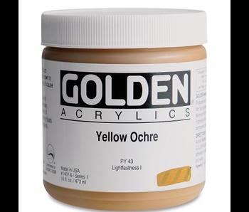 Golden 16Oz Yellow Ochre Series 1 Heavy Body Artist Acrylic Paint HB