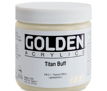 Golden 16Oz Titan Buff Series 1 Heavy Body Artist Acrylic Paint HB