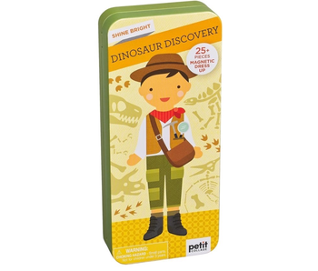 PETITCOLLAGE - DINOSAUR DISCOVERY MAGNETIC DRESS UP