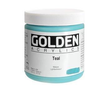 Golden 16Oz Teal Series 3 Heavy Body Artist Acrylic Paint HB