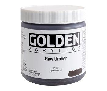 Golden 16Oz Raw Umber Series 1 Heavy Body Artist Acrylic Paint HB