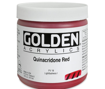 Golden 16Oz Quinacridone Red Series 6 Heavy Body Artist Acrylic Paint HB
