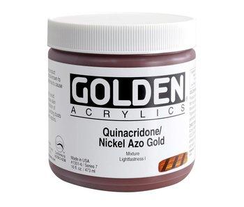 Golden 16Oz Quinacridone Nickel Azo Gold Series 7 Heavy Body Artist Acrylic Paint HB