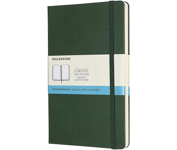 MOLESKINE CLASSIC COLLECTION HARD COVER DOTTED NOTEBOOK GREEN