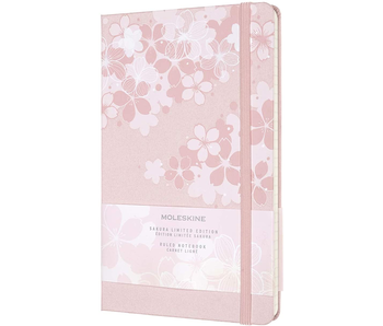 """Moleskine Hardcover Ruled 5 x 8.25"""" 13x21 cm Cherry Blossoms Pink"""