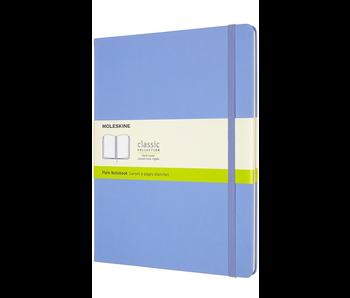 Moleskine Classic Notebook, Extra Large, Plain, Hydrangea Blue, Hard Cover (7.5 X 9.75)