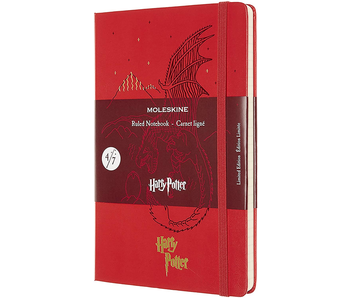 "Moleskine Hardcover Ruled 5 x 8.25"" 13x21 cm Harry Potter Red Limited"