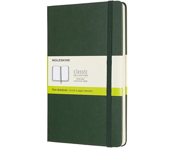 MOLESKINE CLASSIC COLLECTION HARD COVER PLAIN NOTEBOOK GREEN