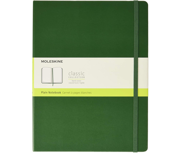 MOLESKINE CLASSIC COLLECTION HARD COVER PLAIN NOTEBOOK GREEN 7.5X9.75