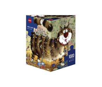 Heye 1000 Piece Cat's Life Poster Puzzle