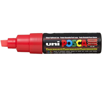 Posca PC-8K Broad Fluorescent  Red