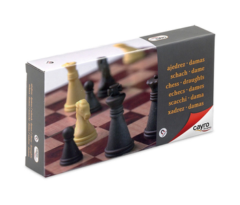 Cayro Magnetic Chess & Draught Set Small