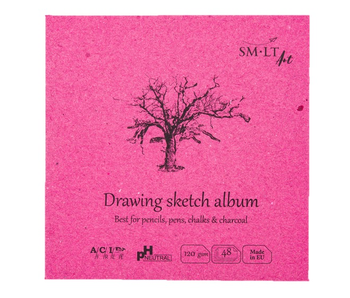 "SMLT ART Drawing Sketch Album 5.5""x 5.5"" PH Neutral"