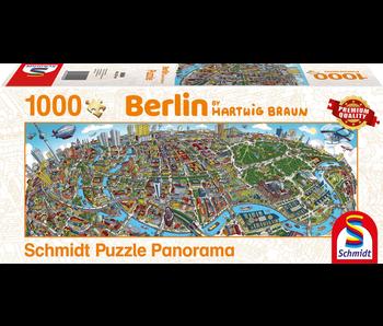 SCHMIDT PUZZLE 1000 PANORAMA: HARTWIG BRAUN - BERLIN