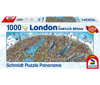 SCHMIDT PUZZLE 1000 PANORAMA: HARTWIG BRAUN - LONDON