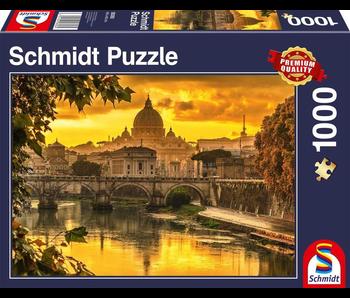SCHMIDT PUZZLE 1000: GOLDEN LIGHT OVER ROME