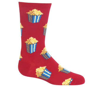 Hotsox Youth S/M  Popcorn Red
