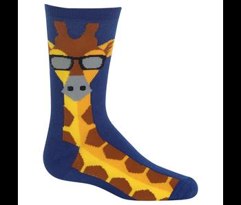 Hotsox Youth L/XL Giraffe Dark Blue