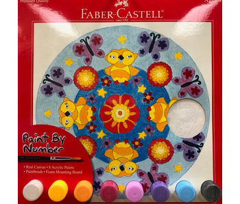 Faber Castell Paint By Number Set Butterfly Mandala