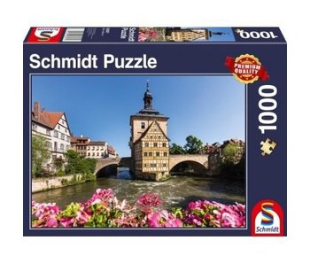 SCHMIDT PUZZLE 1000: BAMBERG, REGNITZ AND OLD TOWN HALL