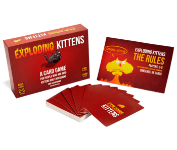 EXPLODING KITTENS ORIGINAL EDITION - A CARD GAME FOR PEOPLE WHO ARE INTO KITTENS AND EXPLOSIONS