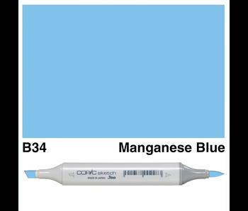 COPIC SKETCH B34 MANGANESE BLUE