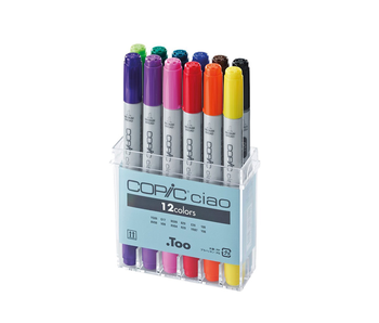 COPIC CIAO MARKER 12 BASIC SET