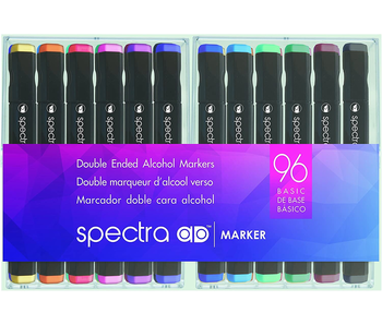 SPECTRA DOUBLE ENDED ALCOHOL MARKER 96 SET