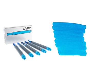 LAMY CALLIGRAPHY INK CARTRIDGE 5PK TURQUOISE