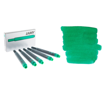 LAMY CALLIGRAPHY INK CARTRIDGE 5PK GREEN